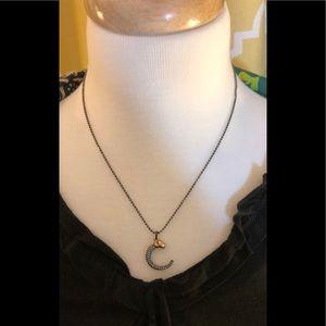 Stella & Dot Hematite Panther Necklace